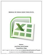 Manual de Visual Basic para Excel - José García [2 MB | 1.48 MB | PDF | Español]